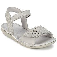 Schuhe Mädchen Sandalen / Sandaletten Kickers EVANA Weiss