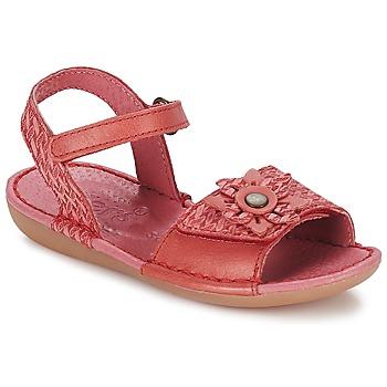 Schuhe Mädchen Sandalen / Sandaletten Kickers EVANA Rot / Korallenrot