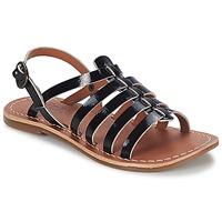 Schuhe Mädchen Sandalen / Sandaletten Kickers DIXMILLION Schwarz