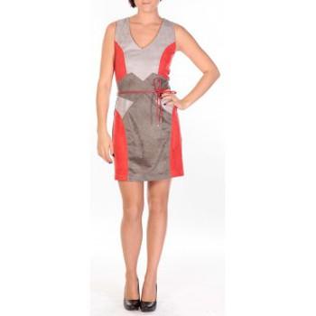 Kleidung Damen Kurze Kleider Dress Code Robe Fraise rouge/gris/anthracite Rot
