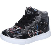Schuhe Mädchen Sneaker High Enrico Coveri schuhe bambina  sneakers schwarz textil lack BX822 schwarz