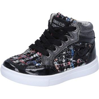 Enrico Coveri Kinderschuhe COVERI sneakers schwarz textil lack BX822