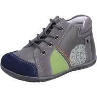 Schuhe Jungen Sneaker Low Enrico Coveri schuhe bambino  sneakers grau wildleder leder BX827 grau