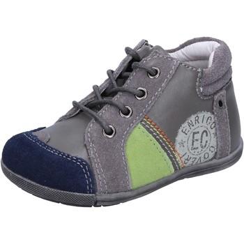 Enrico Coveri Kinderschuhe COVERI sneakers grau wildleder leder BX827