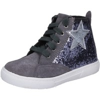 Schuhe Mädchen Sneaker High Enrico Coveri schuhe bambina  sneakers grau glitter wildleder BX839 grau