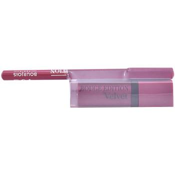 Beauty Damen Lippenstift Bourjois Rouge Edition Velvet Lipstick 14+contour Lipliner 5 Gratis 2