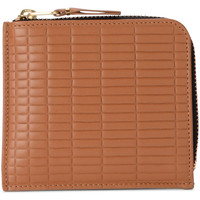 Taschen Damen Portemonnaie Comme Des Garcons Comme Des Garçons Portemonnaie Wallet Brick Line in Leder Braun