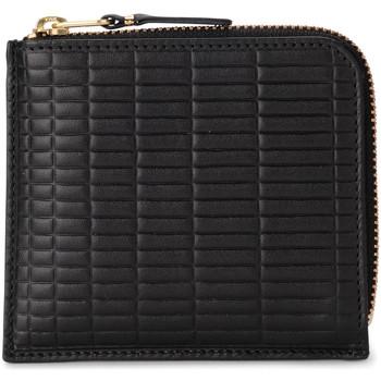 Taschen Damen Portemonnaie Comme Des Garcons Comme Des Garçons Portemonnaie Wallet Brick Line in Leder Schwarz