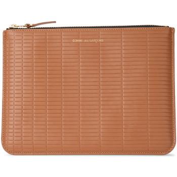 Taschen Damen Portemonnaie Comme Des Garcons Ledertäschchen Brick Line in Leder Braun