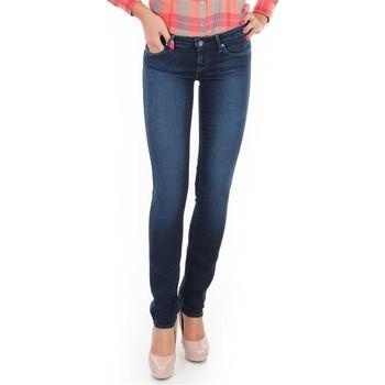 Kleidung Damen Röhrenjeans Wrangler Spodnie  Molly Straight W26FX754R blau