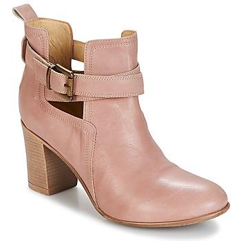 Schuhe Damen Low Boots Casual Attitude SEROLA Schwarz / Anthrazit / Rot