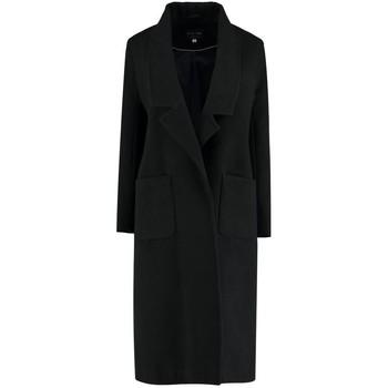 Kleidung Damen Mäntel De La Creme Winter langer Mantel Black