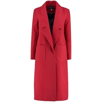 Kleidung Damen Mäntel De La Creme Winter langer Mantel Red
