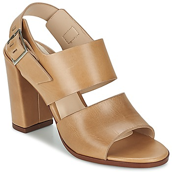 Schuhe Damen Sandalen / Sandaletten Dune London CUPPED BLOCK HEEL SANDAL Beige