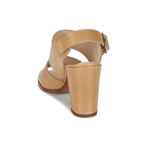 Dune CUPPED BLOCK HEEL SANDAL / Beige  Schuhe Sandalen / SANDAL Sandaletten Damen 71,19 03b4de