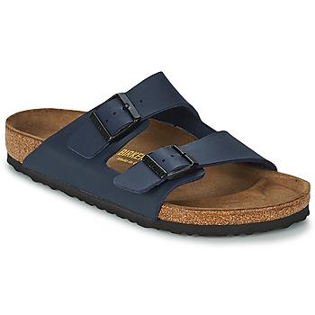 Schuhe Herren Pantoffel Birkenstock ARIZONA LARGE FIT Blau