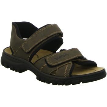 Schuhe Herren Sportliche Sandalen Rieker Offene Sandalette 25051-27 braun