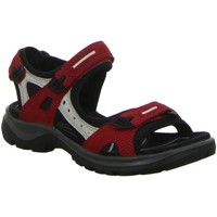 Schuhe Damen Sportliche Sandalen Ecco Sandaletten Sandalette sportlicher Boden  OFFROAD 69563 55287 rot