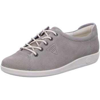 Schuhe Damen Sneaker Low Ecco Schnuerschuhe Komfort Schnürhalbschuh Soft 2.0 206503 02375 grau