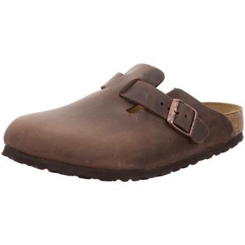 Schuhe Herren Pantoletten / Clogs Birkenstock Offene Boston Clog 860133 braun