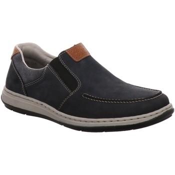 Schuhe Herren Slip on Rieker Slipper Slipper Halbschuh 17360-15 blau