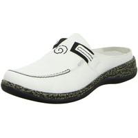 Schuhe Damen Pantoletten / Clogs Rieker Pantoletten Sabot/Clog 46393-80 weiß