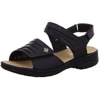 Schuhe Damen Sandalen / Sandaletten Rieker Sandaletten Komfort Sandalette 64560-01 schwarz