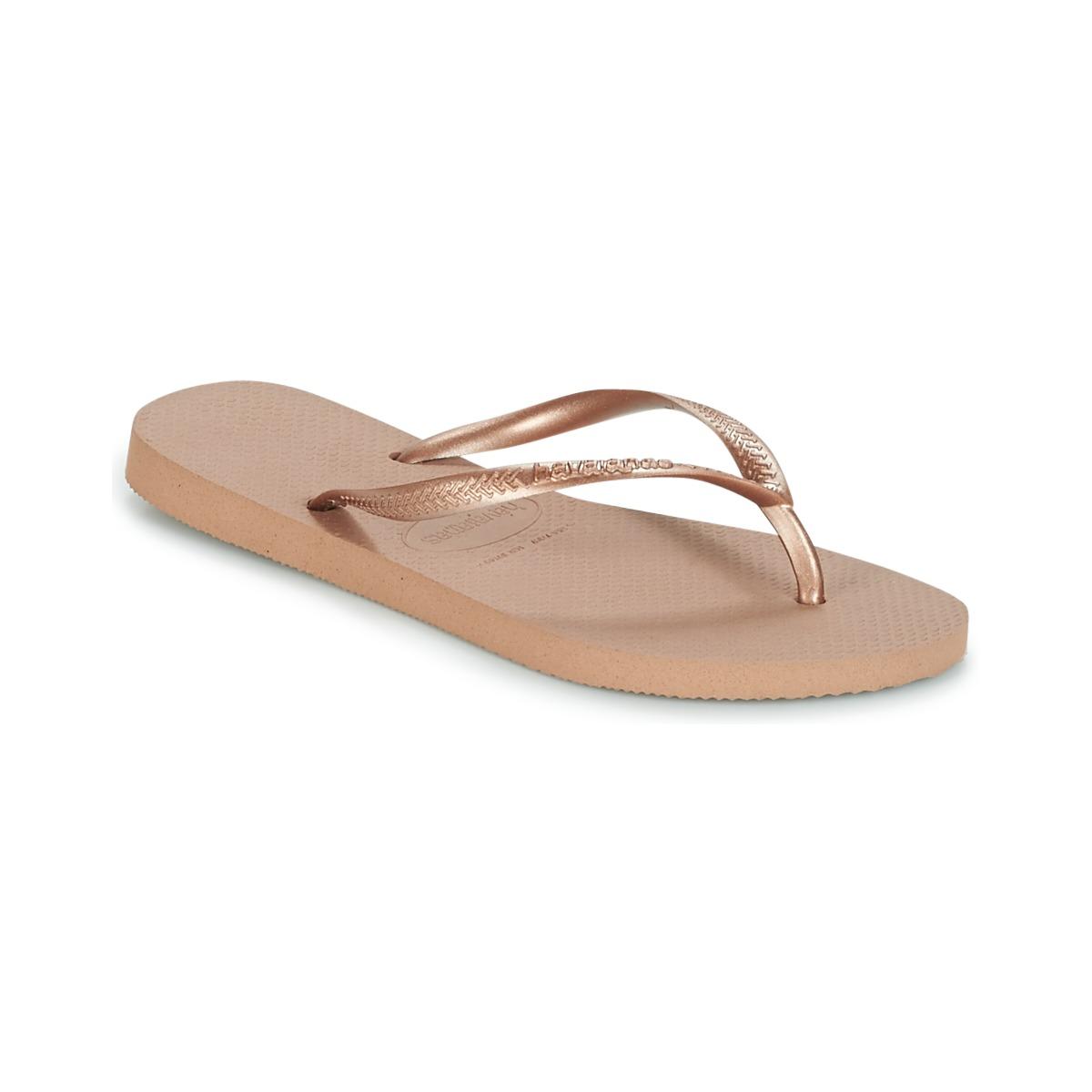 Havaianas SLIM Rose / Gold - Kostenloser Versand bei Spartoode ! - Schuhe Zehensandalen Damen 20,79 €
