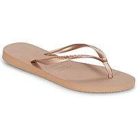 Schuhe Damen Zehensandalen Havaianas SLIM Rose / Gold