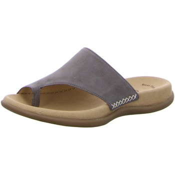 Schuhe Damen Pantoffel Gabor Pantoletten Pantolette bis 30mm Absatz 03.700.13 grau