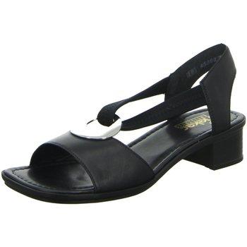 Schuhe Damen Sandalen / Sandaletten Rieker Sandaletten Sandalette 62662-01 schwarz