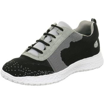 Schuhe Damen Sneaker Low Rieker Schnuerschuhe N4108 N4108-00 schwarz