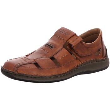 Schuhe Herren Slipper Rieker Slipper 05284-24 braun