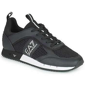 Schuhe Sneaker Low Emporio Armani EA7 LACES U Schwarz