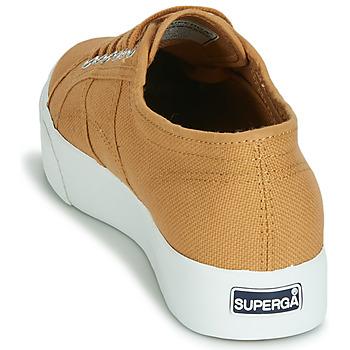 Superga 2730 COTU Beige - Kostenloser Versand |  - Schuhe Sneaker Low Damen 6319