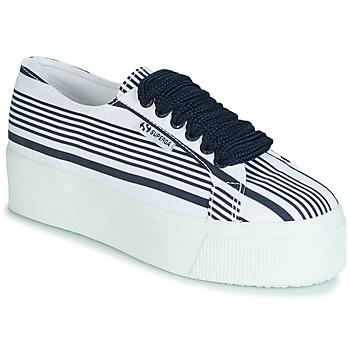 Schuhe Damen Sneaker Low Superga 2790 COT MULTI STRIPE W Weiss