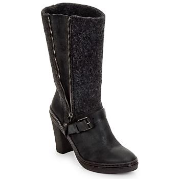 Schuhe Damen Klassische Stiefel Buttero MERENS Schwarz / Grau