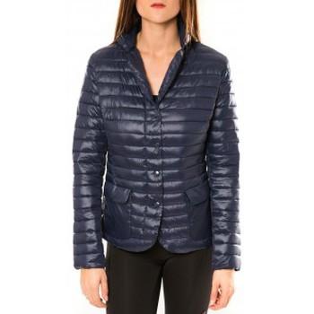Kleidung Damen Jacken De Fil En Aiguille Doudoune Victoria & Karl 15326-C Bleu Blau