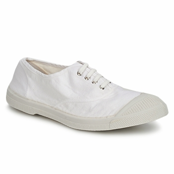 Schuhe Damen Sneaker Low Bensimon TENNIS LACET Weiss