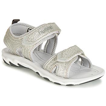 Schuhe Mädchen Sandalen / Sandaletten Hummel SANDAL GLITTER JR Silbern