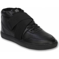 Schuhe Herren Sneaker High Sixth June Sneaker Nation Strap Schwarz