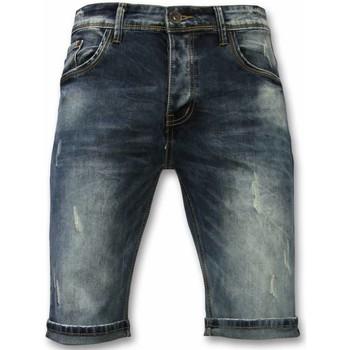 Kleidung Herren Shorts / Bermudas True Rise Jeans Bermuda Kurze Jeans Blau