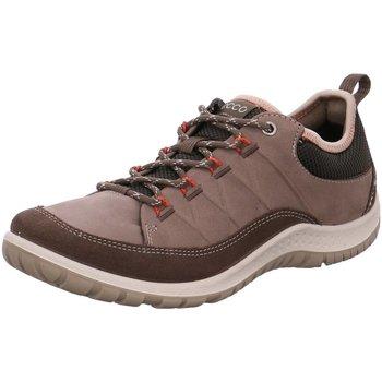Schuhe Damen Wanderschuhe Ecco Schnuerschuhe 838503/56610 braun