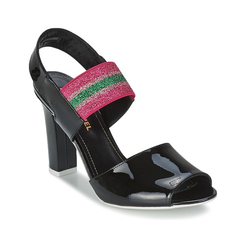 Sonia Rykiel 683902 Schwarz / Rose  Schuhe Sandalen / Sandaletten Damen 272,30