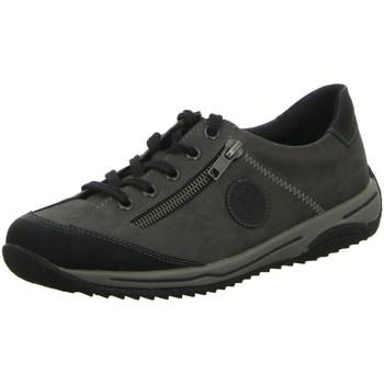 Schuhe Damen Sneaker Low Rieker Schnuerschuhe Schnürhalbschuh Casual L5224-00 grau