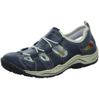 Schuhe Damen Sandalen / Sandaletten Rieker Slipper Slipper Halbschuh gelocht oder geflochten L0561-14 blau