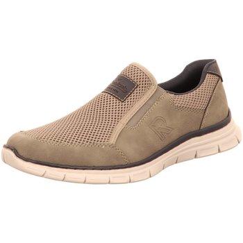 Schuhe Herren Slip on Rieker Slipper B4873-40 grau