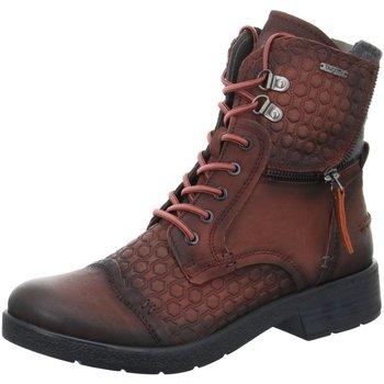 Schuhe Damen Boots Bugatti Stiefeletten Scara 421328303569-3111 rot
