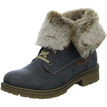 Schuhe Damen Schneestiefel Rieker Stiefeletten Schnürstiefelette Warmfutter Y9122-45 grau