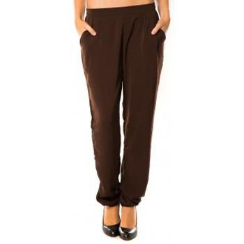 Kleidung Damen Jogginghosen Dress Code Pantalon R9771 Marron Braun